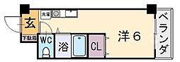 アリスYAO[102号室]の間取り
