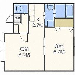 エクシード円山[2階]の間取り