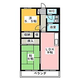 シャトー下恵土[3階]の間取り