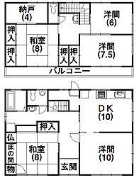 [一戸建] 静岡県浜松市西区馬郡町 の賃貸【静岡県 / 浜松市西区】の間取り