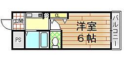 ベルハイム小阪[110号室]の間取り
