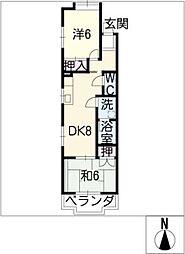 第2シャトープレドパーク[5階]の間取り