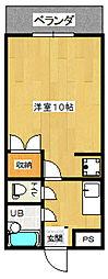 カスティール・イン・宇都宮[308(C)号室]の間取り