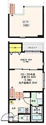 JR東北本線 東仙台駅 徒歩14分の賃貸アパート 1階2Kの間取り