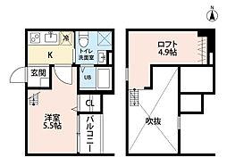 コンフォート鈍池(ニブイケ)[1階]の間取り