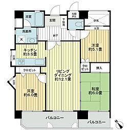 ライオンズマンション小禄第2[4階]の間取り