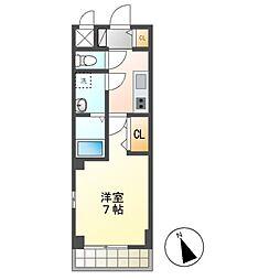 JR内房線 長浦駅 徒歩7分の賃貸アパート 3階1Kの間取り