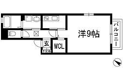 兵庫県宝塚市山本南1丁目の賃貸アパートの間取り