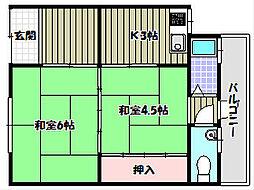 半田5丁目連棟貸家1[1階]の間取り