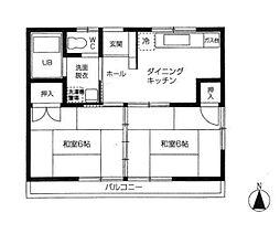 桜川ソシエ[1階]の間取り