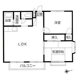瀬戸大橋テラスハウス[2階]の間取り