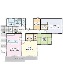 海楽2丁目戸建 2F部分[2階]の間取り