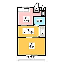 ニューシティフジ[1階]の間取り