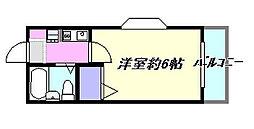 第3山田ハイツ[2-A号室]の間取り