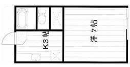 ラポン大巌寺[201号室]の間取り