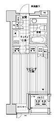 東京メトロ有楽町線 銀座一丁目駅 徒歩2分の賃貸マンション 8階1Kの間取り