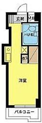 東京都台東区千束3の賃貸マンションの間取り