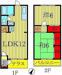 [テラスハウス] 千葉県流山市東初石4丁目 の賃貸【/】の間取り