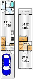 [一戸建] 大阪府大阪市生野区林寺3丁目 の賃貸【/】の間取り