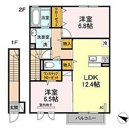 (仮称)D-roomたちばな台[202号室]の間取り