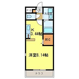 南海高野線 河内長野駅へ16分 アンプルールクラージュサピエ[1階]の間取り