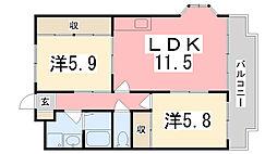 ビューライフ長畑[2階]の間取り