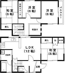 [一戸建] 滋賀県東近江市五個荘小幡町 の賃貸【/】の間取り