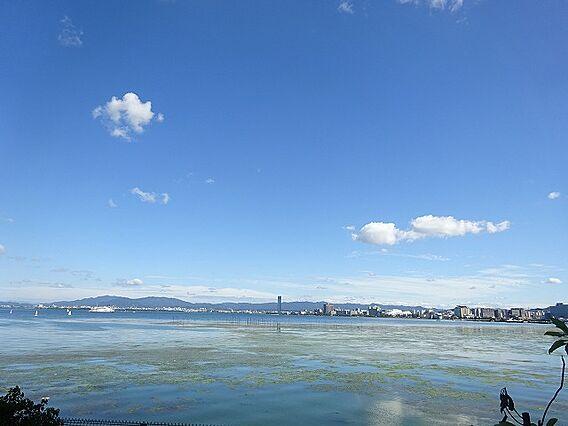 琵琶湖眺望良好...