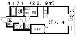 フジパレス高見の里II番館[105号室号室]の間取り