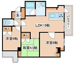 兵庫県明石市二見町西二見の賃貸マンションの間取り