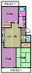 埼玉県さいたま市中央区本町西6丁目の賃貸マンションの間取り