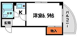 M'プラザ滝井駅前 3階1Kの間取り