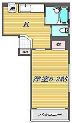 東京都板橋区大山金井町の賃貸マンションの間取り