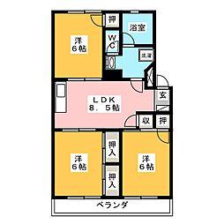 コーポ丸菊[2階]の間取り