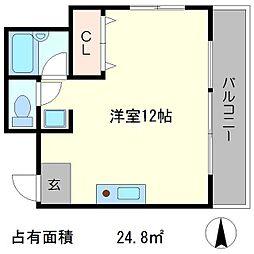 リバティハウス II[4階]の間取り