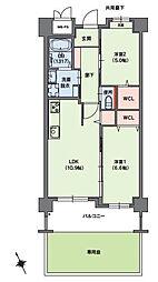 福岡市地下鉄七隈線 桜坂駅 バス5分 小笹団地正門前下車 徒歩3分の賃貸マンション 1階2LDKの間取り