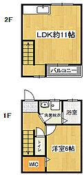 U-Palazzo[3号室]の間取り