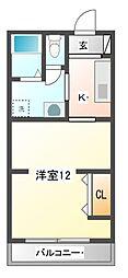 NO.1サンライズビル[3階]の間取り