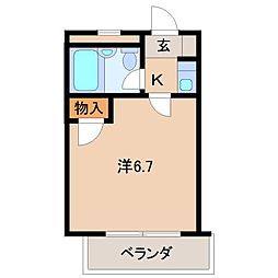 ラ・フォーレ黒田[1階]の間取り