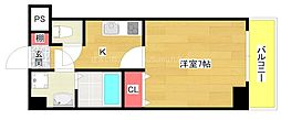 AQUA GALAXY(アクア ギャラクシィ) 9階1Kの間取り