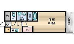 大阪府大阪市淀川区西中島2丁目の賃貸マンションの間取り