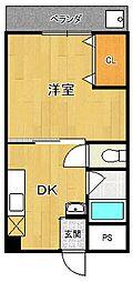 フタミハイツ[5階]の間取り