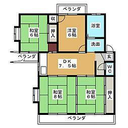 エスタシオンフロール[1階]の間取り