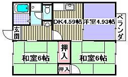 桃田ハイツ[2階]の間取り