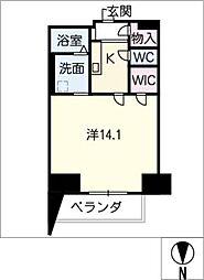 Blancasa久屋大通[6階]の間取り