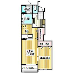 愛知県名古屋市中川区吉津2丁目の賃貸アパートの間取り