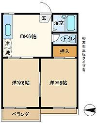 パークハウスローリエ 202[2階]の間取り