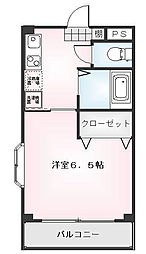 第33平安コーポラス[0301号室]の間取り