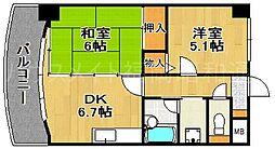 ライオンズマンションマキシム平尾[6階]の間取り