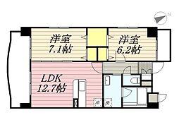 仮称)港3丁目マンション新築工事[9階]の間取り